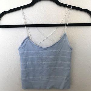 ❤️❤️❤️Full Tilt blue crop top